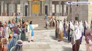 Jesus rebukes